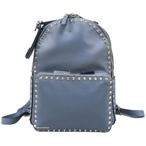 Valentino Rockstud Grey Leather Backpack